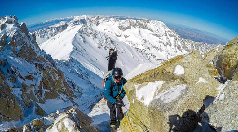 Skiing the Backcountry of Wasatch Mountains