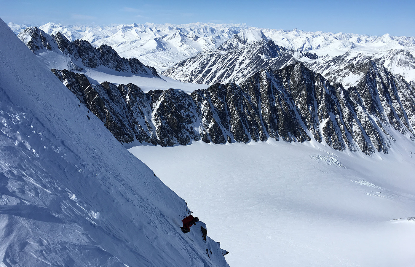 Skiing the steeps in Valdez AK